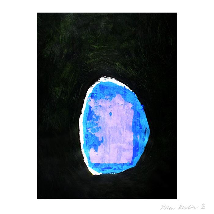 6 paintning abstrakt maleri space 6 helen kholin canvas 80x60 cm ramme