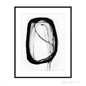 8 space 8 helen kholin graphic hvid og sort ink paa papir 30x40 ramme