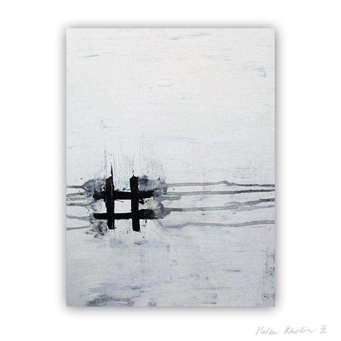 1 How we see the World now Hashtag black and white painting hvid og sort malerier helen kholin