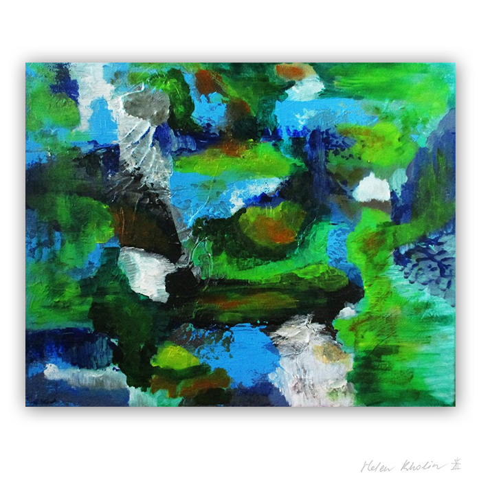 1 The Color of Silence 1 what is the color of silience helen kholin abstrakte malerier abstract painting