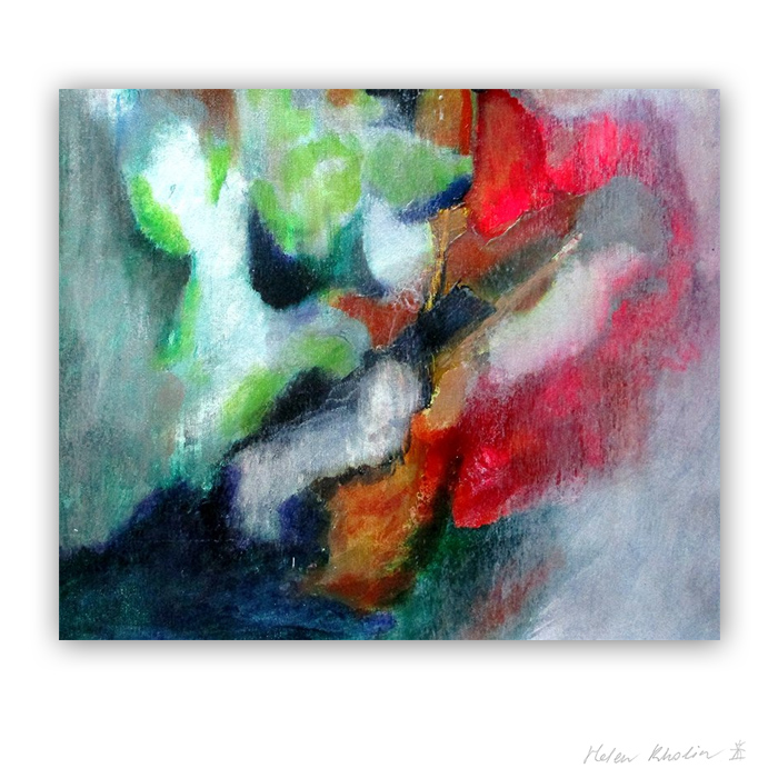 13 Fire and Water 13 what is the color of silience helen kholin abstrakte malerier abstract painting