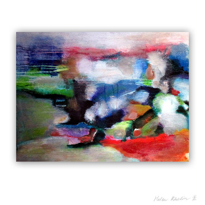 16 Fresh Wind what is the color of silience 16 helen kholin abstrakte malerier abstract painting
