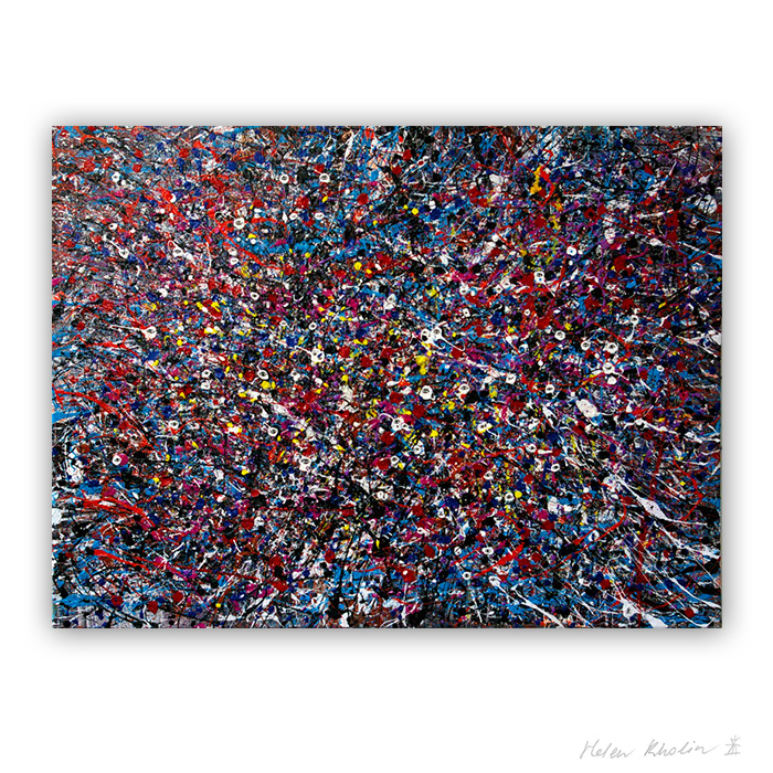 2 People stars nr 2 sold paintings abstrakte malerier solgt kunst helen kholin