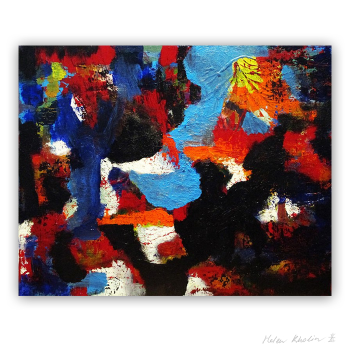 2 The Color of Silence 2 what is the color of silience helen kholin abstrakte malerier abstract painting