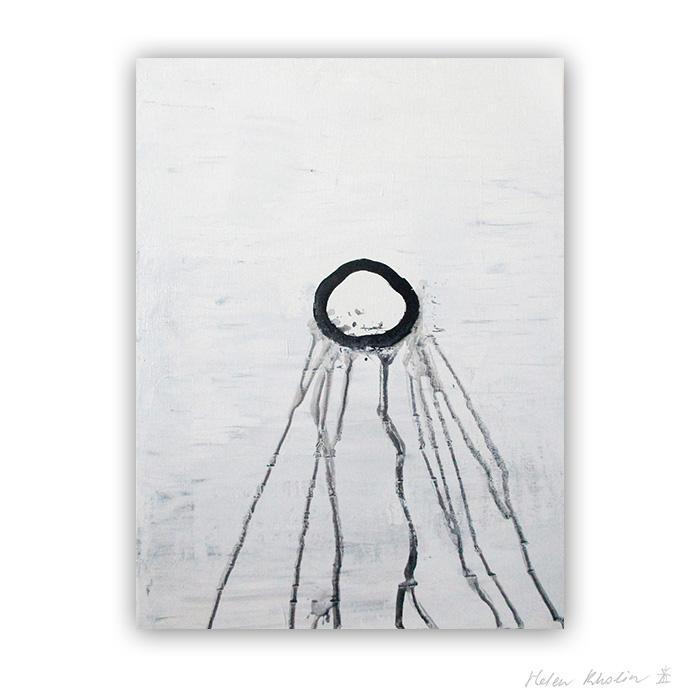 2 You are here black and white painting hvid og sort malerier helen kholin