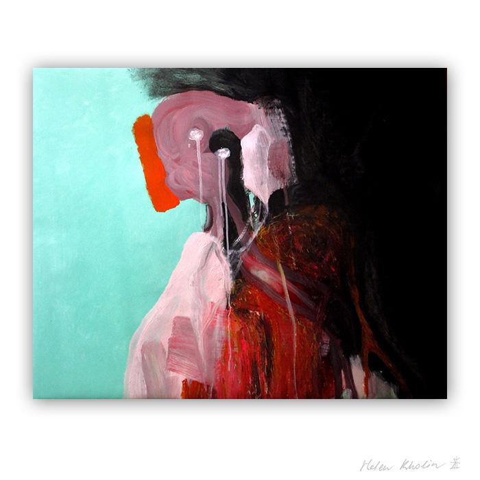 2 suddenly brick macro world abstrakte malerier i staerke farver til salg painting helen kholin