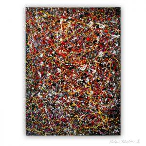 3 People stars nr 3 80x60 cm abstrakte malerier solgt kunst helen kholin