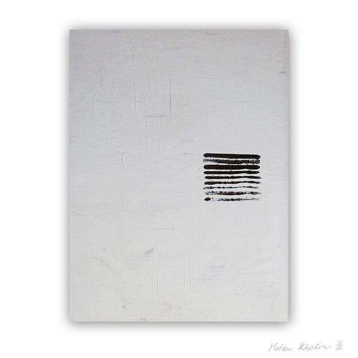 3 Untold words hvid og sort malerier black and white painting helen kholin