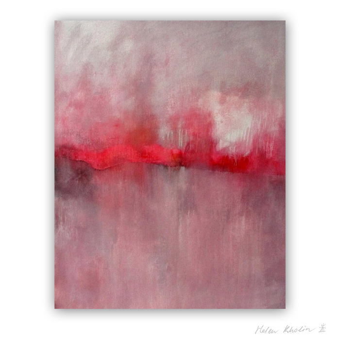4 Pink silence The Color of Silence 4 what is the color of silience helen kholin abstrakte malerier abstract painting