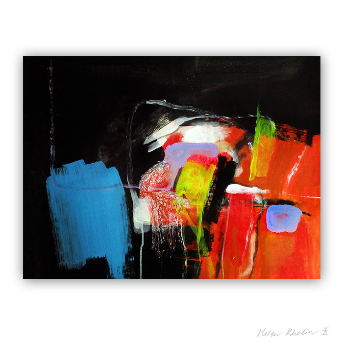 4 daily magic helen kholin abstract paintings macro world abstrakte malerier i staerke farver til salg