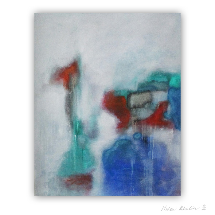 5 Once in silence I met someone The Color of Silence 5 what is the color of silience helen kholin abstrakte malerier abstract painting
