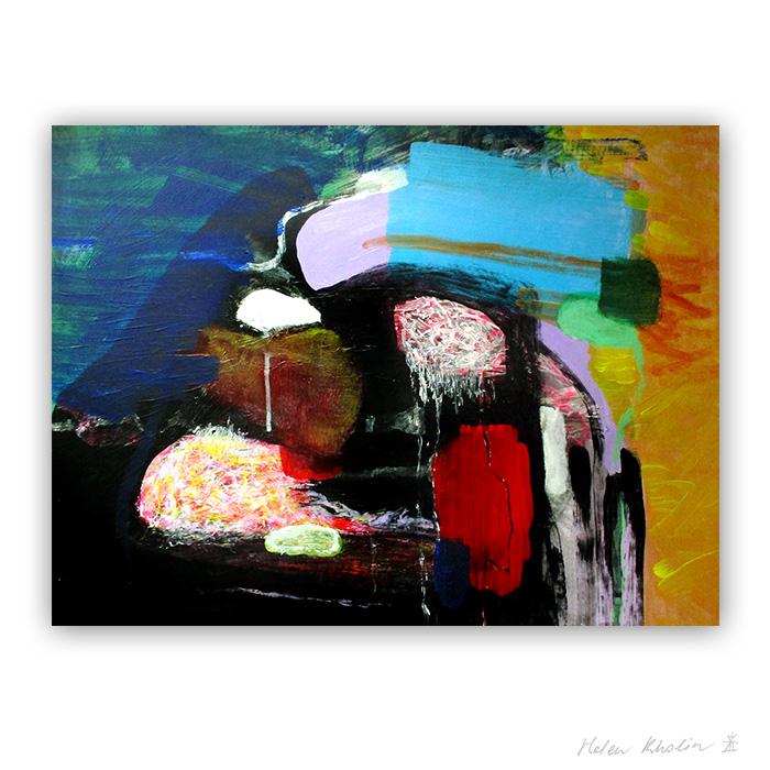 5 in the Land of Clouds helen kholin macro world abstrakte malerier i staerke farver til salg