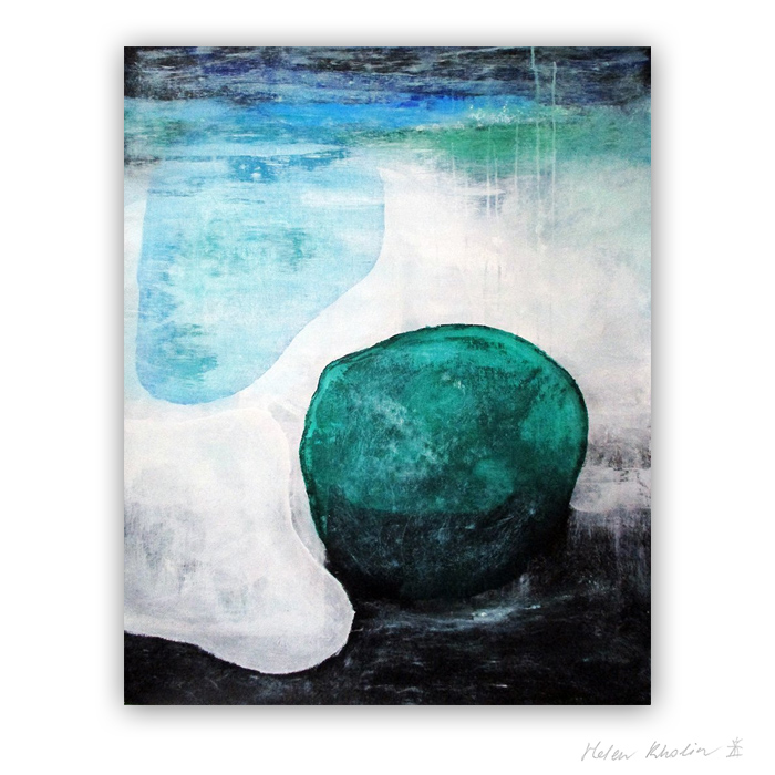 6 Water and stone The Color of Silence 6 what is the color of silience helen kholin abstrakte malerier abstract painting