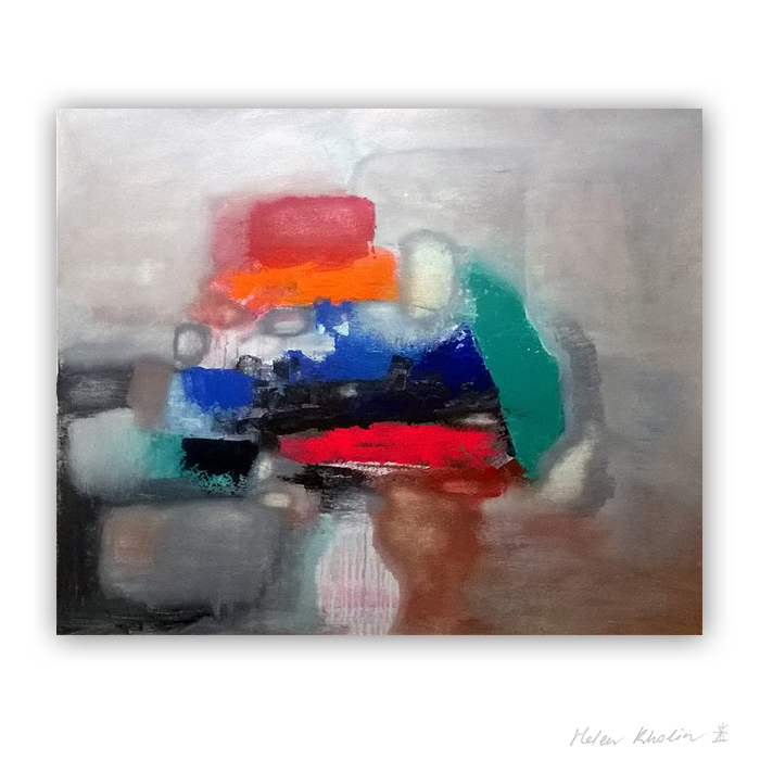 9 Stranger in a hat Color of Silence 9 what is the color of silience helen kholin abstrakte malerier abstract painting