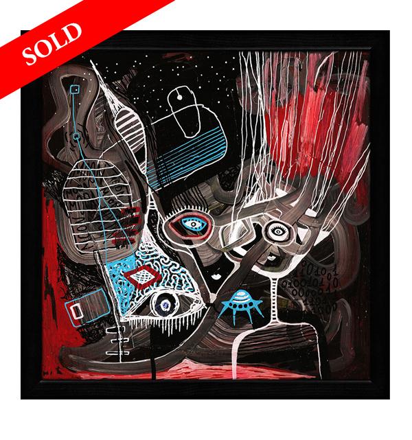 2 Virtual Space helen kholin sold art solgt kunst maleri