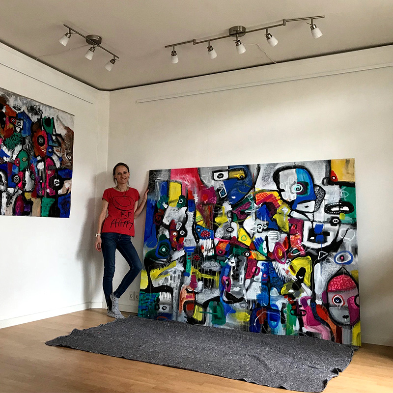 store abstrakte malerier 2-Great-Adventure-of-People-helenkholin