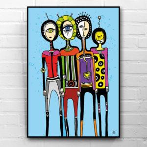 10-aliens-friends-ufo-love-kunsttryk-print-med-kunst-ufoprint-art-prints-boligkunst-helen-kholin