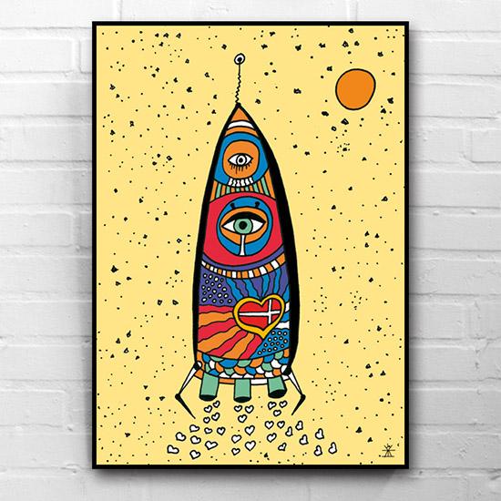 11-fly-on-a-space-rocket-ufo-love-kunsttryk-print-med-kunst-ufoprint-art-prints-boligkunst-helen-kholin