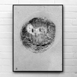 3-smile-x-planet-hvid-og-sort-glad-kunsttryk-print-med-kunst-ufoprint-art-prints-boligkunst-helen-kholin