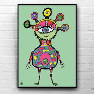 3-ufo-happiness-ufo-love-kunsttryk-print-med-kunst-ufoprint-art-prints-boligkunst-helen-kholin