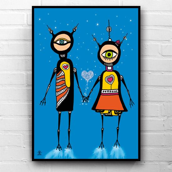 5-Love-and-Stars-ufo-love-kunsttryk-print-med-kunst-ufoprint-art-prints-boligkunst-helen-kholin