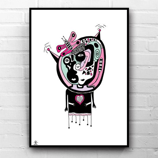 6-Fly-like-a-butterfly-space-people-kunsttryk-print-med-kunst-ufoprint-art-prints-boligkunst-helen-kholin