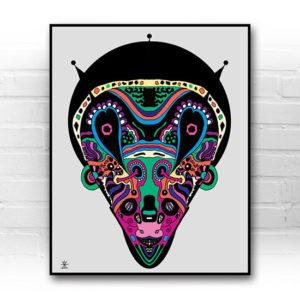 ufo-face-1-calavera-kunstprint-artprint-prints-helen-kholin-aliens-kunsttryk-grafiskeprint