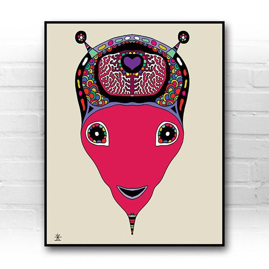 ufo-face-6-calavera-kunstprint-artprint-prints-helen-kholin-aliens-kunsttryk-grafiskeprint