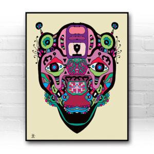 ufo-face-7-calavera-kunstprint-artprint-prints-helen-kholin-aliens-kunsttryk-grafiskeprint