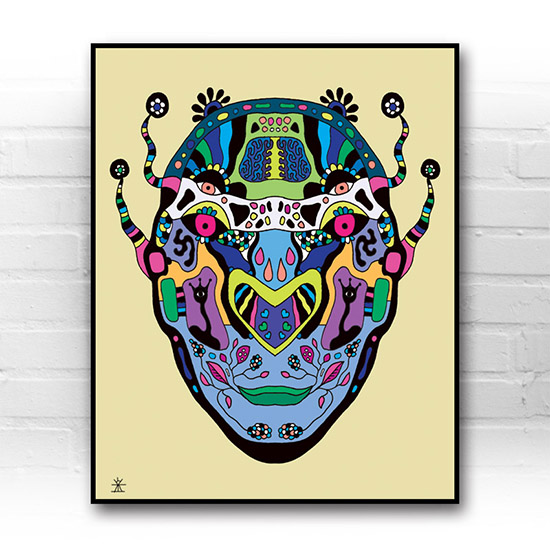 ufo-face-8-calavera-kunstprint-artprint-prints-helen-kholin-aliens-kunsttryk-grafiskeprint
